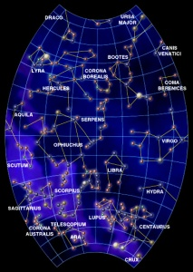 Spring Constellation Map